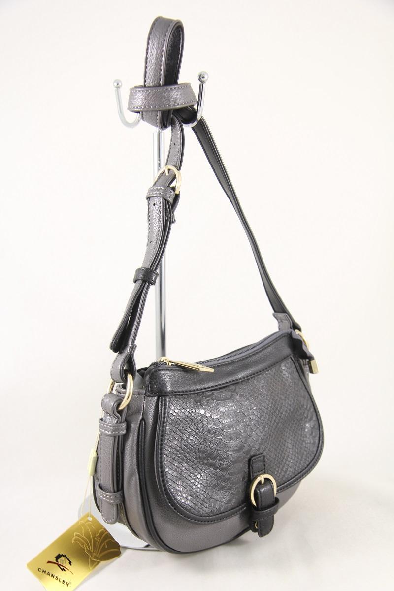 Сумка женская из кожзаменителя Chansler5582 Grey/Black