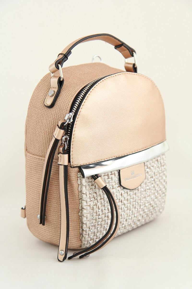 Рюкзак из кожзаменителя Valle Mitto68160 Pearl Pink