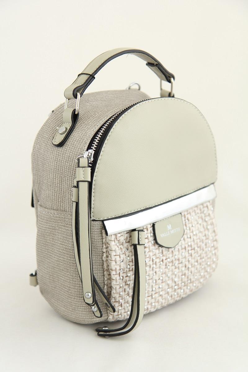 Рюкзак из кожзаменителя Valle Mitto68160 Oyster Grey